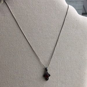 Vintage sterling silver Carnelian pendant necklace
